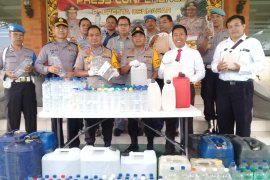534 liter arak disita Polresta Denpasar jelang pawai ogoh-ogoh