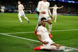 Rashford kunci kemenangan United vs PSG dan lolos perempat final Liga Champions