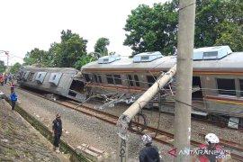 Kecelakaan kereta di Bogor mengakibatkan enam orang luka