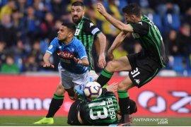 Hasil dan klasemen Liga Italia, Napoli terjegal Juventus kian terdepan