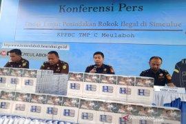 Bea Cukai amankan distributor dan 52.800 batang rokok ilegal di Simeulue