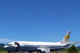 Pesawat Boeing presiden akan mendarat di Pinangsori, proses uji coba sukses