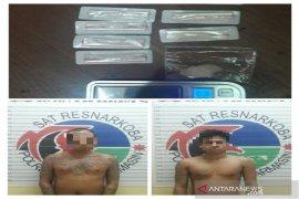 Polresta Banjarmasin tangkap dua pria simpan 10 paket sabu-sabu