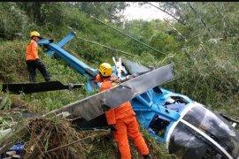Helikopter dengan empat penumpang jatuh di Tasikmalaya