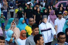 Ribuan simpatisan Prabowo-Sandi Padangsidimpuan ikuti jalan sehat