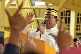 Lawatan Capres Prabowo di Istana Kesultanan Kadriah Pontianak