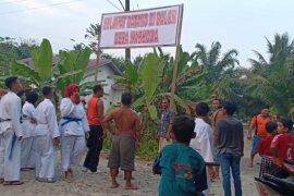 Puluhan warga Situngkit Langkat aksi protes maraknya peredaran narkoba