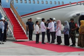 Presiden tiba di Lombok tinjau rehabilitasi gempa