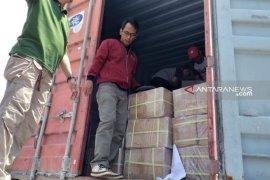 KPU Belitung Timur terima 312 koli surat suara Pemilu 2019