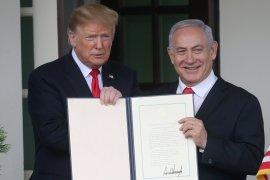 Presiden Donald Trump bangga namanya diabadikan di Golan-Israel