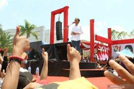 Capres 01 Jokowi Kampanye Terbuka di Kalbar