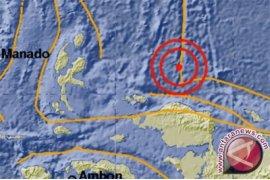 Senin pagi, Gempa magnitudo 5,0 terjadi di Papua Barat