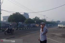 Kabut asap kebakatan hutan selimuti Pekanbaru dan Dumai