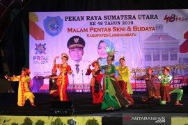 Tarian 'Pesta Panen' meriahkan pentas seni budaya Kabupaten Labuhanbatu di PRSU