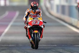Sempat terjatuh, Marc Marquez kunci pole position GP Prancis