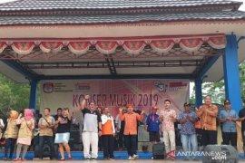 KPU Belitung gelar konser musik sosialisasikan Pemilu 2019
