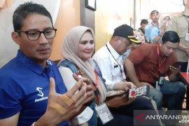 Sandiaga Uno awali kampanye di Kalbar dengan sarapan bersama awak media