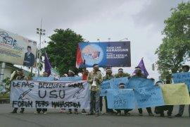 Forum Persma-AJI Kota Jambi aksi solidaritas untuk Suara USU