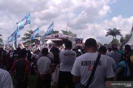 Warga Pangkalpinang padati tempat kampanye akbar Prabowo