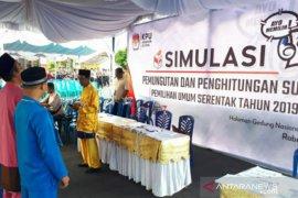 KPU Belitung gelar simulasi pemungutan dan perhitungan suara di TPS