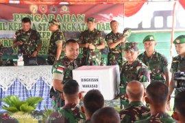 Wakasad Kunjungi Pos Kotis Satgas Pengamanan Perbatasan RI-Malaysia