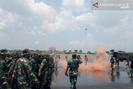 Ratusan prajurit TNI Bekasi gelar latihan PHH Pemilu