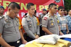 Kapolres : Tersangka pembawa narkotika diancam 20 tahun penjara