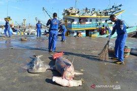 Satgas Laut Biru bersihkan sampah plastik