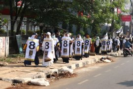 Flasb Mob PKS Depok serukan kemenangan Prabowo-Sandi