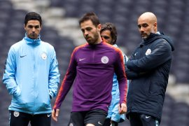 Sergio Aguero siap perkuat Manchester City hadapi Hotspur
