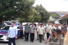 Capres Prabowo temui Sultan HB X di Kepatihan