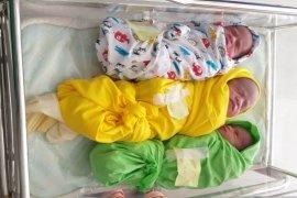 Bayi kembar tiga, lahir di Hari Jadi Aceh Jaya