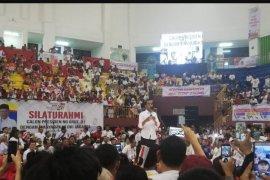 Capres Jokowi hadiri silaturahmi dengan masyarakat di Ciracas Jakarta