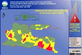 BMKG: Sebagian wilayah Jatim berpotensi hujan deras