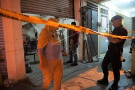 "Lokasi surat suara tercoblos diberi ""police line"""