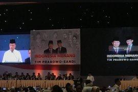 Prabowo Subianto perkenalkan Gatot Nurmantyo di barisan pendukungnya