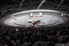 Capres Jokowi ajak rakyat optimistis hadapi tantangan menjadi negara maju
