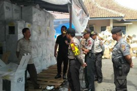 Kapolres cek tempat penyimpanan logistik Pemilu Majalengka