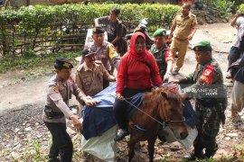 Akses jalan sulit, distribusi logistik di Jember gunakan kuda (Video)