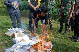KPU Kota Bengkulu musnahkan 1.334 surat suara rusak