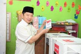 Suharso Monoarfa salurkan hak pilihnya di Tasikmalaya