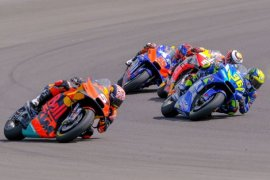 Pembalap Tim Suzuki Joan Mir  lanjutkan perawatan di Barcelona usai kecelakaan MotoGP