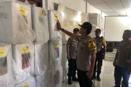 Kapolda Maluku tinjau pengamanan logistik Pemilu di PPK