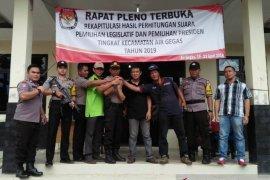 Kapolsek Air Gegas pimpin pengawalan logistik Pemilu ke KPU