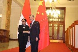 Menlu Wang Yi puji keberhasilan pemilu Indonesia saat bertemu Menlu Retno