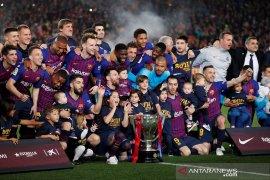 Hasil dan klasemen Liga Spanyol, Barcelona pastikan juara