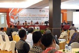 Partisipasi pemilih pemilu di Kota Kediri capai 86,19 persen