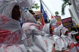 Unjuk rasa jelang Hari Buruh