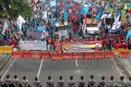 Polda Metro Jaya menyelidiki aksi vandalisme saat May Day 2019