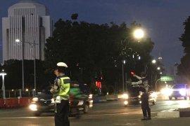 Situasi kawasan Istana Merdeka tetap kondusif usai aksi buruh
